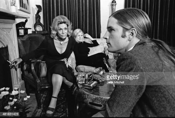 Sylvia Miles Andrea Feldman and Joe Dallesandro filming Andy Warhol's 'Heat' in October 1971