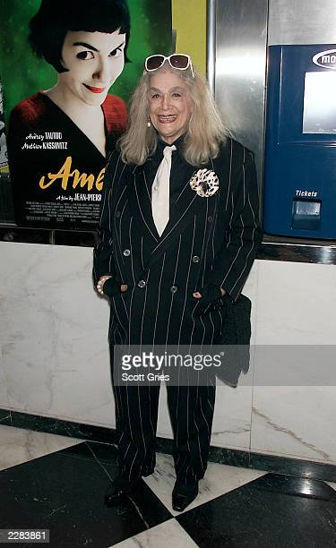 Sylvia Miles arrives at a screening of 'Amelie' at The Paris Theater in New York City 10/15/01 Photo by Scott Gries/ImageDirect