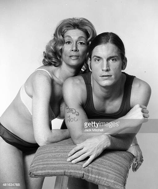 Sylvia Miles as Hollywood hasbeen Sally Todd and Joe Dallesandro as hustler Joey Davis in Andy Warhol's 'Heat' in March 1972