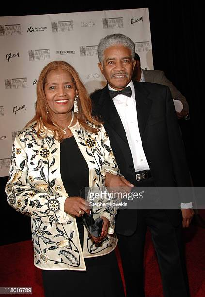 Sylvia Moy inductee and husband during 37th Annual Songwriters Hall of Fame Ceremony Arrivals at Marriott Marquis in New York City New York United...