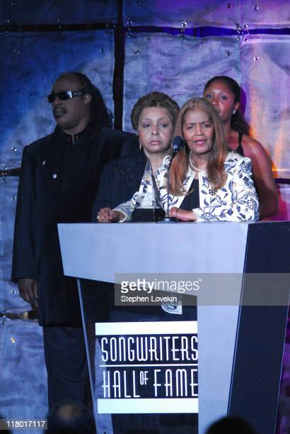 Sylvia Moy with Patricia Cosby Stevie Wonder and Aisha Morris