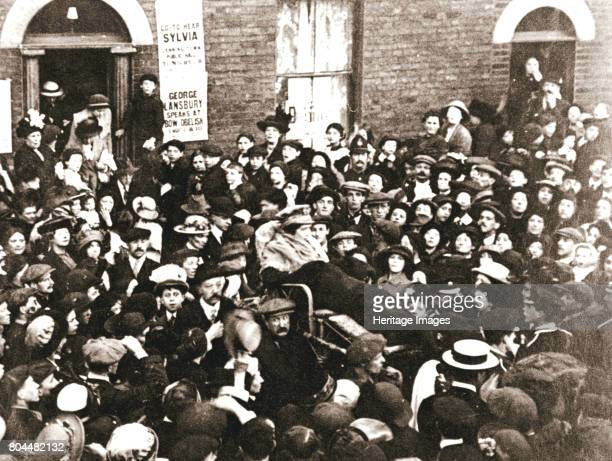 Sylvia Pankhurst British suffragette in a bath chair London June 1914 Sylvia Pankhurst is shown here in her severely weakened state caused by...