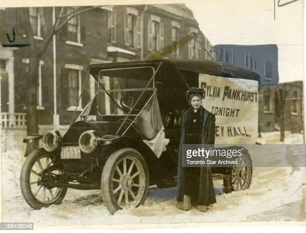 1911 Sylvia Pankhurst British Suffragette in Toronto