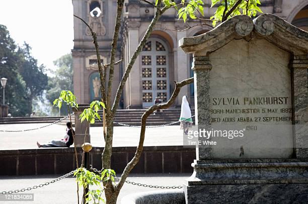 Sylvia Pankhurst grave, Holy Trinity Cathedral, Addis Ababa, Ethiopia, Africa