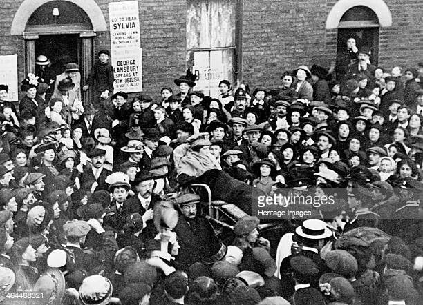 Sylvia Pankhurst leaving the East End of London in a bathchair June 1914 Weakened by hunger thirst and sleep strikes Sylvia had her own bodyguard of...