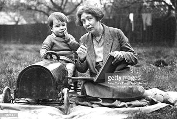 Sylvia Pankhurst with her son