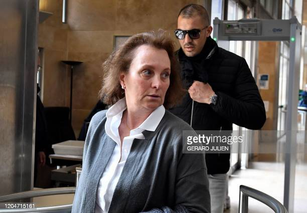 Sylvia Pastor the expartner of former honorary consul of Poland in Monaco Wojciech Janowski arrives at the Assize Court of Appeal of BouchesduRhone...