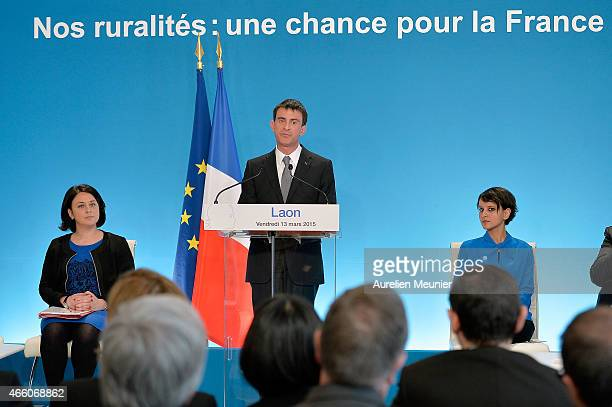 Sylvia Pinel French Minister of Housing French Prime Minister Manuel Valls and Najat VallaudBelkacem French Minister of National Education Higher...