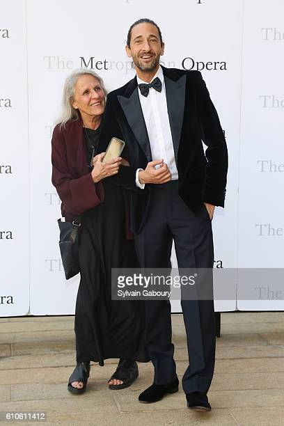 Sylvia Plachy and Adrien Brody attends Metropolitan Opera Opening Night Gala Premiere of Wagner's 'Tristan und Isolde' at The Metropolitan Opera...