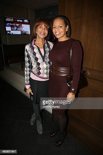 Sylvia Rhone and daughter Quinn Rhone attend the Welcome To New York party presented by Roc Nation Sports Airbnb at the 40/40 Club on January 29 in...