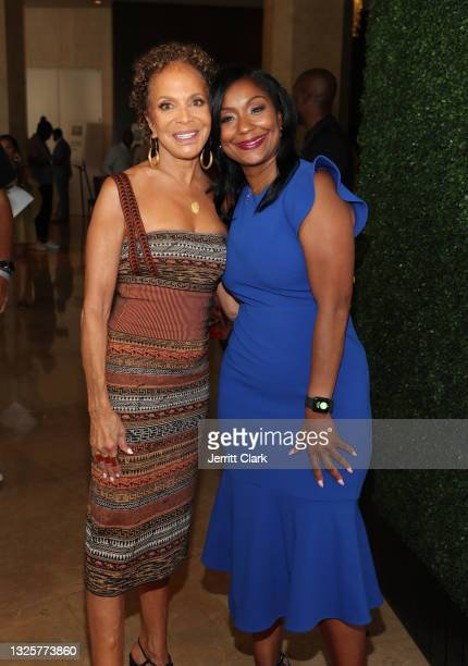Sylvia Rhone and Joi Brown attend the Culture Creators Innovators & Leaders Awards at The Beverly Hilton on June 26, 2021 in Beverly Hills,...