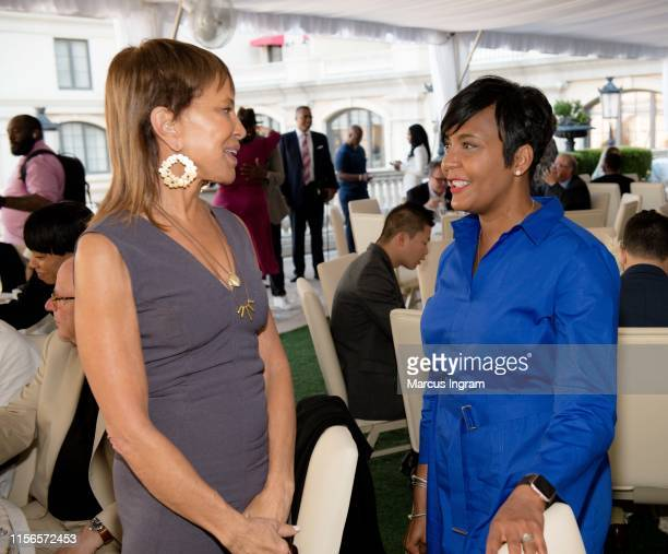 Sylvia Rhone and Mayor Keisha Lance Bottoms attend the City of Hope Sylvia Rhone Spirit Of Life Kickoff Breakfast at St Regis Atlanta on June 17 2019...