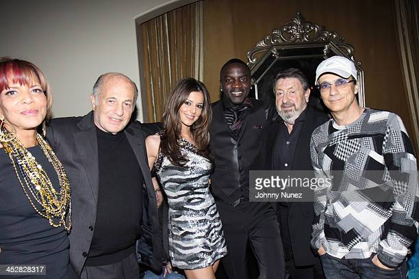 Sylvia Rhone Doug Morris Guest Akon Mel Lewinter and Jimmy Iovine attend Cash Money's PreGrammy Party Honoring Lil Wayne at the Montage Hotel on...