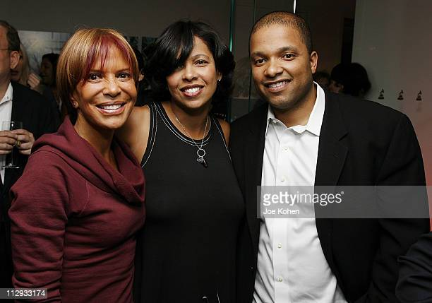Sylvia Rhone President of Universal/Motown Records Angelia Bibbs Sanders of the Recording Academy and Jimmy Jam Chairman of the board of the...