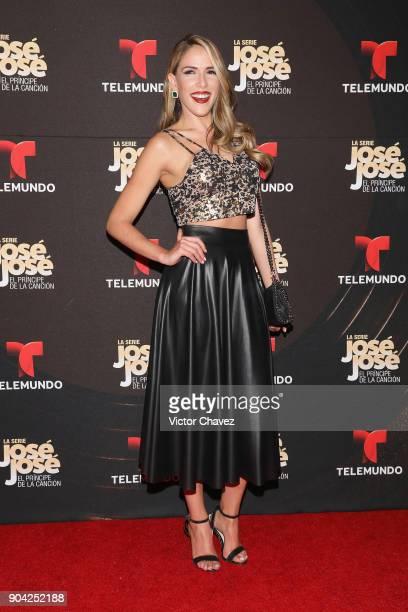 Sylvia Saenz attends the 'Jose Jose El Principe De La Cancion' Telemundo tv series premiere at Four Seasons hotel on January 11 2018 in Mexico City...