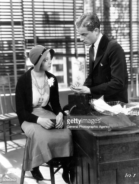 Sylvia Sidney and Phillips Holmes in a scene from the film 'An American Tragedy'. Title: An American Tragedy Studio: Paramount Director: Joseph von...