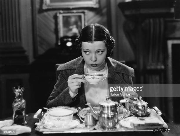 Sylvia Sidney the American heroine as she appears in 'Thirty Day Princess', directed by Marion Gering for Paramount.