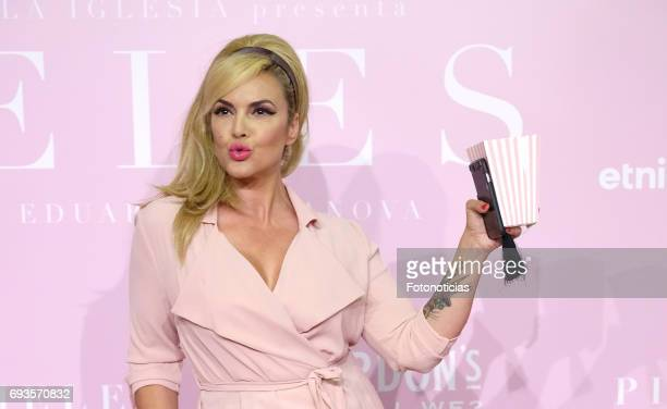 Sylvia Superstar attends the 'Pieles' premiere pink carpet at Capitol cinema on June 7 2017 in Madrid Spain