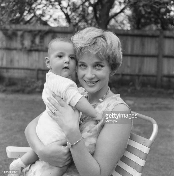 Sylvia Syms actor and star of Ice Cold In Alex with her adopted son Mark Benjamin Edney Picture taken 25th September 1961