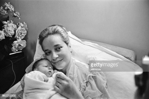Sylvia Syms actor and star of Ice Cold In Alex with her new born baby daughter Beatrice Picture taken 26th October 1962