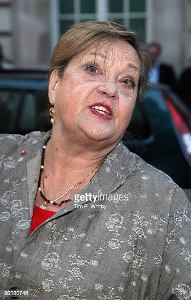 Sylvia Syms arrives for the premiere of Is Anybody There at the Curzon Mayfair cinema on April 29 2009 in London England
