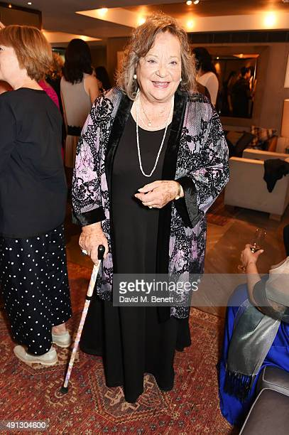 Sylvia Syms attends the Voice Of A Woman Awards at the Belgraves Hotel on October 4 2015 in London England