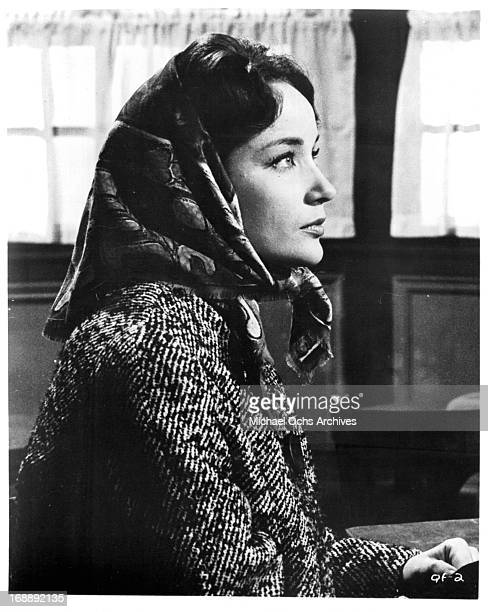 Sylvia Syms in a scene from the film 'The Quare Fellow', 1962.