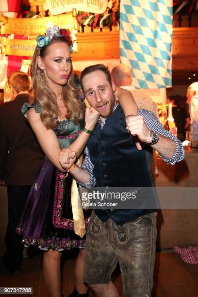 Sylvia Walker and Bjoern Schulz attend the 27th Weisswurstparty at Hotel Stanglwirt on January 19 2018 in Going near Kitzbuehel Austria