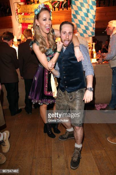 Sylvia Walker and Bjoern Schulz during the 27th Weisswurstparty at Hotel Stanglwirt on January 19 2018 in Going near Kitzbuehel Austria