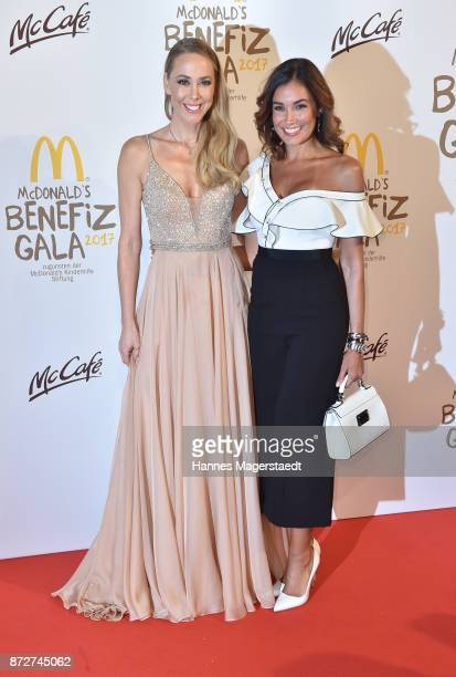 Sylvia Walker and Jana Ina Zarrella during the McDonald's charity gala at Hotel Bayerischer Hof on November 10 2017 in Munich Germany