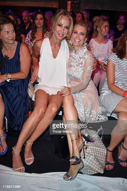 Sylvia Walker and Jennifer Knaeble attend the Lana Mueller show during the Berlin Fashion Week Spring/Summer 2020 at ewerk on July 1 2019 in Berlin...