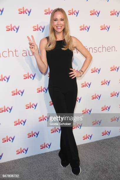 Sylvia Walker during the launch event for 'Das neue Sky' on April 17 2018 in Munich Germany