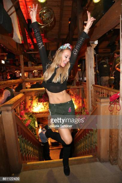 Sylvia Walker during the Oktoberfest at Theresienwiese on September 21 2017 in Munich Germany