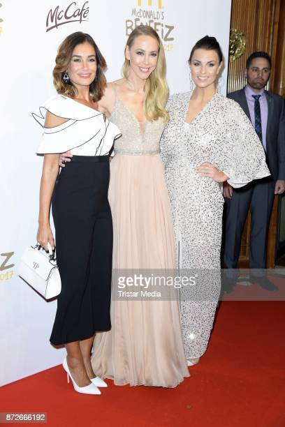 Sylvia Walker Jana Ina Zarrella and Laura Wontorra attend the McDonald's charity gala at Hotel Bayerischer Hof on November 10 2017 in Munich Germany