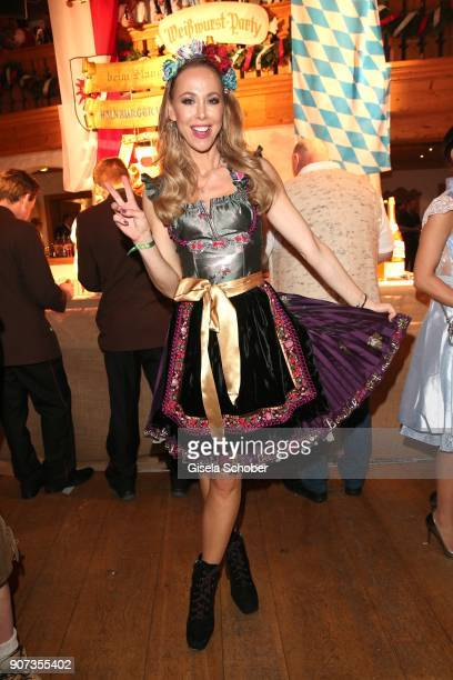 Sylvia Walker wearing a dirndl by Lola Paltinger during the 27th Weisswurstparty at Hotel Stanglwirt on January 19 2018 in Going near Kitzbuehel...