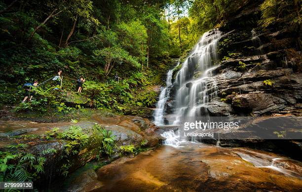 Sylvia waterfalls in Blue Mountains national park Sydney Australia.