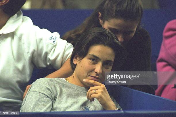 Sylvie Bourdon Amelie Mauresmo's girlfriend attended the match