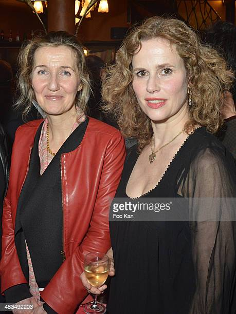 Sylvie Bourgeois Harel and Florence Darel attend La Closerie Des Lilas Literary Awards 2014 7th at La Closerie Des Lilas on April 8 2014 in Paris...