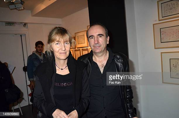 Sylvie Bourgeois Harel and Philippe Harel attend the Ettore Scola Exhibition Preview at Galerie Catherine Houard on June 7 2012 in Paris France