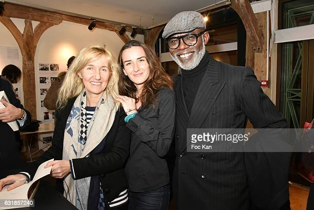 Sylvie Bourgeois Harel Salome Stevenin and Eriq Ebouaney attend 'Sylvie A Saint Tropez' Sylvie Bourgeois Harel Book Signing at Librairie Des Femmes...