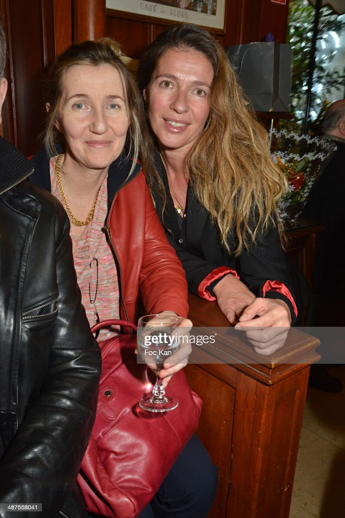 Sylvie Bourgeois HarelÊand Carole Chretiennot attend the Francis Boussard's and Nadine Carpentier's : Private Cocktail At Cafe de Flore on April 30, 2014 in Paris, France.