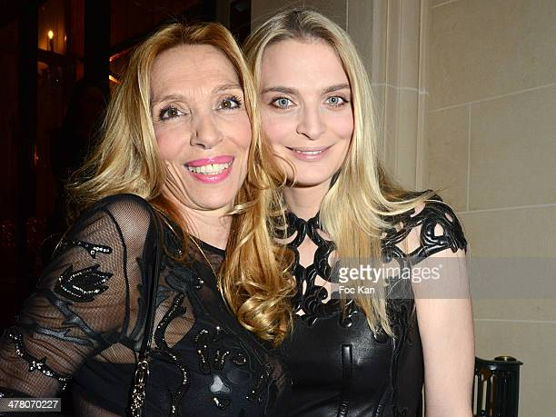 Sylvie Elias and her daughter Sarah Marshall attend Sauvons Saint Cloud Auction Ceremony Dinner at Hotel Interallie on March 11 2014 in Paris France