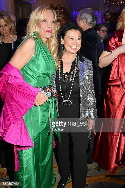 Sylvie Elias and Jeanne d'Hauteserre attend 'The Best Award Gala 40th Edition' at Four Seasons George V Hotel on January 27 2017 in Paris France