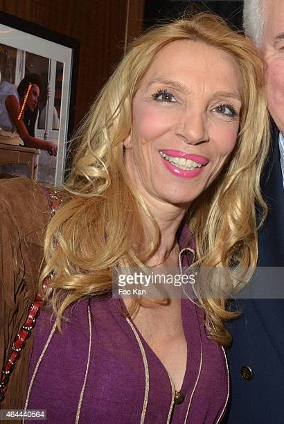 Sylvie Elias attends the Massimo Gargia Private photo exhibition dinner party at Le Cosy on February 25 2015 in Paris France