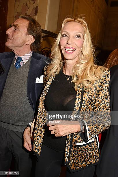 Sylvie Elias attends the Massimo Gargia's Photos of Celebrities Exhibition at Mairie du 8eme Paris Fashion Week Womenswear Spring/Summer 2017 on...