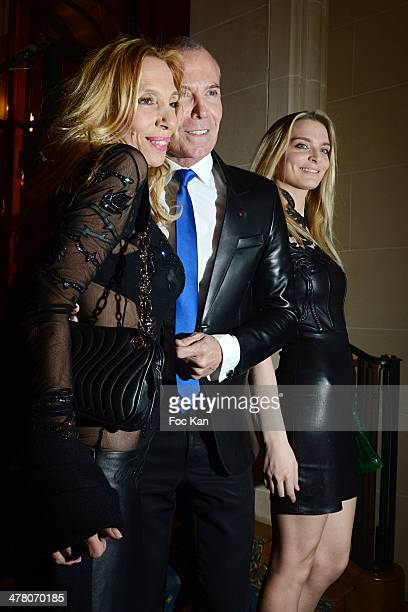 Sylvie Elias Jean Claude Jitrois and Sarah Marshall attend Sauvons Saint Cloud Auction Ceremony Dinner at Hotel Interallie on March 11 2014 in Paris...