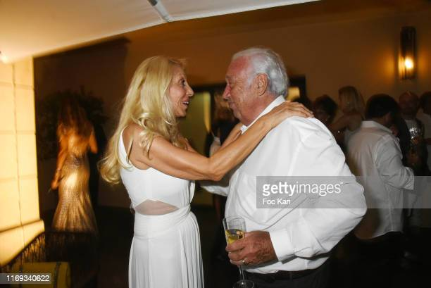 Sylvie Elias Marshall and Marcel Campion attend the Massimo Gargia Birthday Party at Hotel de Paris in Saint Tropez on August 20 2019 in SaintTropez...