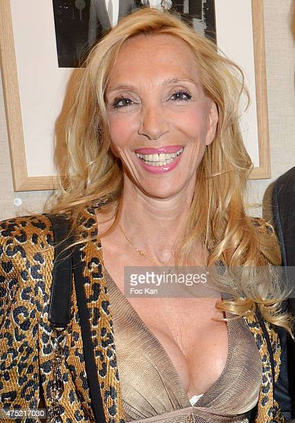 Sylvie Elias Marshall attends the 55 portraits of Massimo Gargia Photo Exhibition at Galerie 55 Belchasse on May 29 2015 in Paris France
