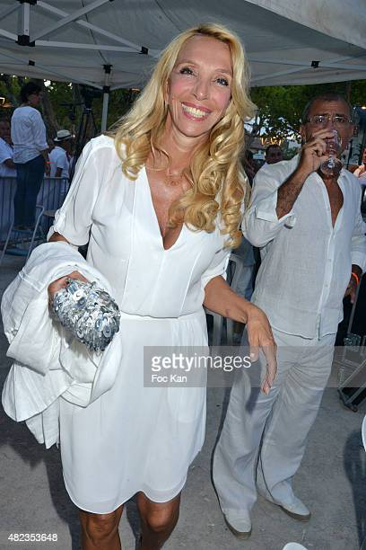Sylvie Elias Marshall attends the Saint Tropez Tribute To Eddie Barclay Place Des Lices Saint Tropez on July 29 2015 in SaintTropez France