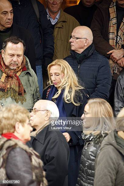 Sylvie Elias mother of Sarah Marshall attends the funeral of French actress Michele Morgan who died aged 96 at Church SaintPierre de Neuilly sur...